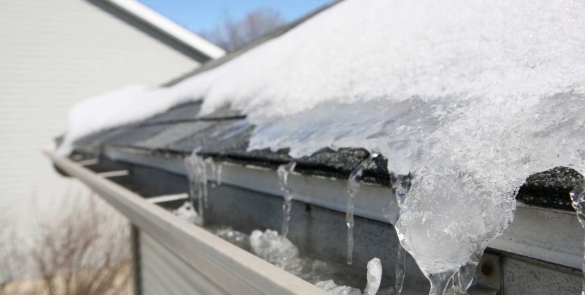 Winter gutter isuses