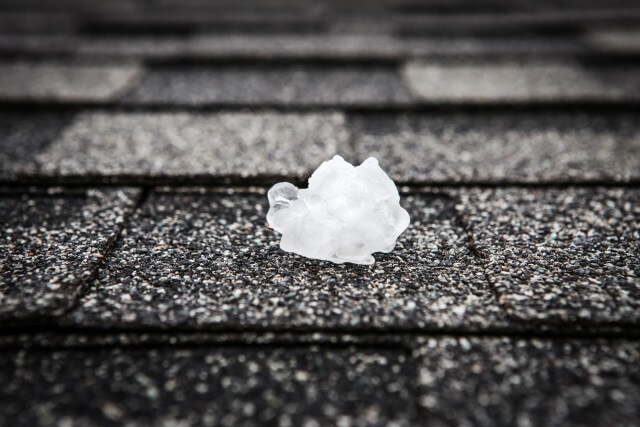 Hail on roof